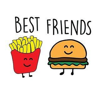 Best friend shirts Burger fries