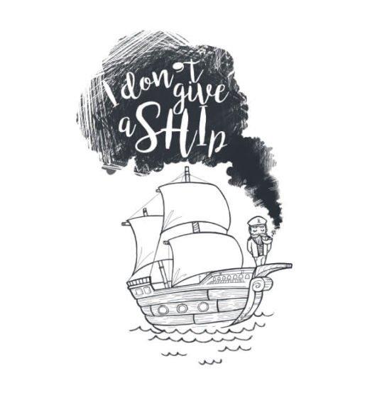 Women shirts I don't give a ship