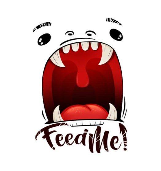 Mens t shirts Feed me