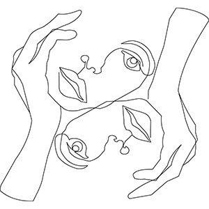 Women t shirt with print High end face