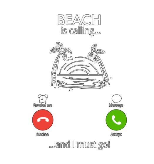 Men graphic tees Beach is calling