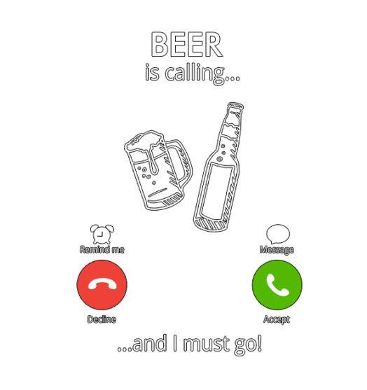 Men graphic tees Beer is calling