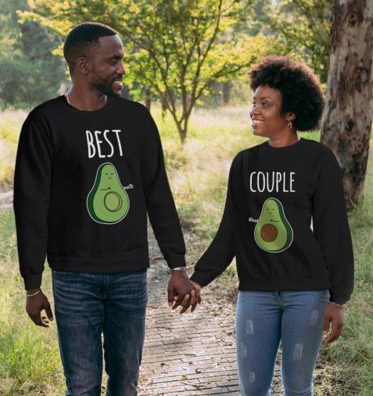 Couple sweatshirt Best avocado couple