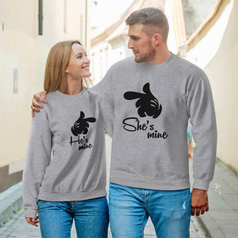 couple sweatshirts she is mine