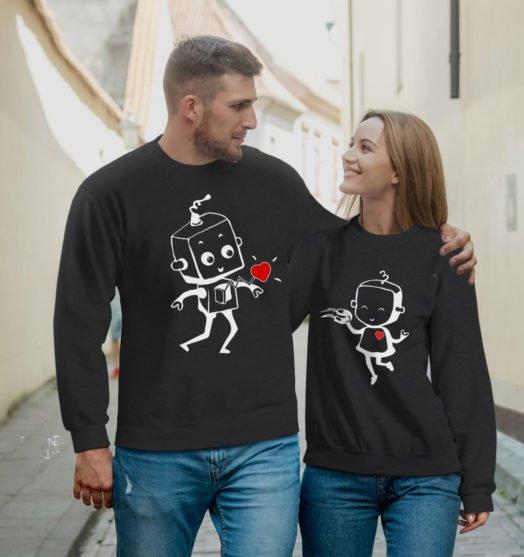 Couple sweatshirts Robots