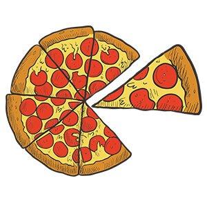 Couple sweatshirt peperoni pizza