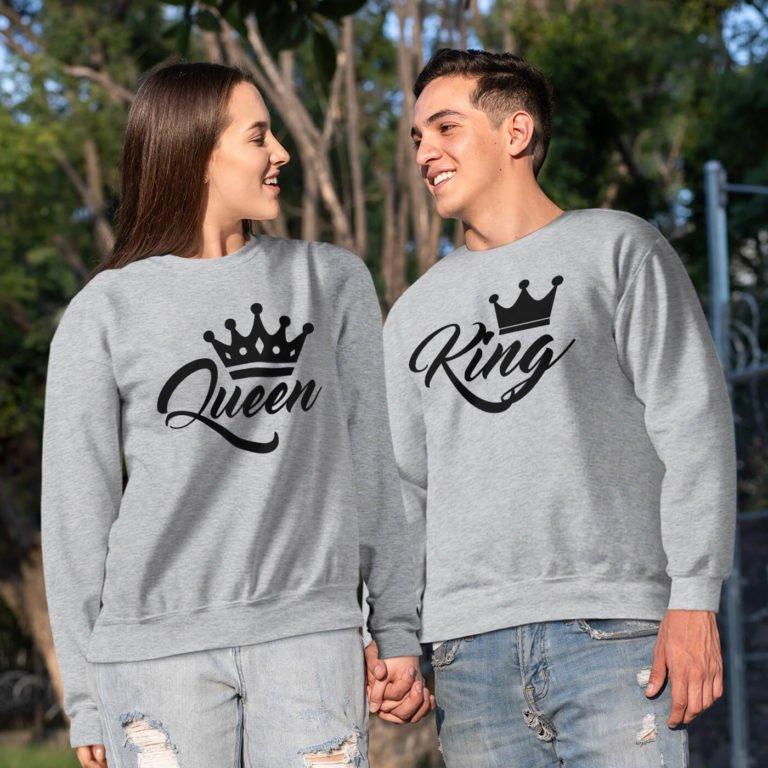 couple sweatshirts king queen