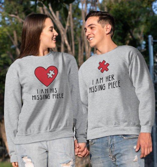 couple sweatshirts missing piece