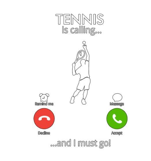 Men graphic tees Tennis is calling