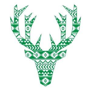 Men graphic tees Green Geometry Deer