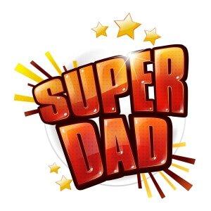 Men graphic tees Super dad