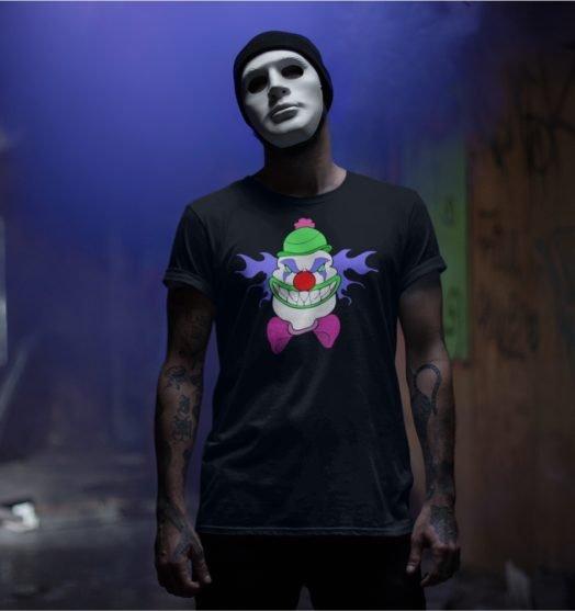 Short sleeve men graphic tees Mr. Clown