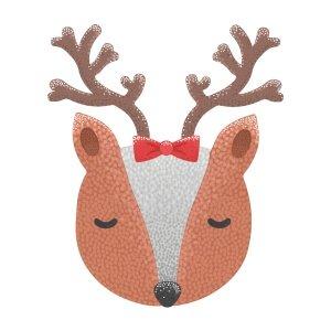 Short sleeve graphic women t shirt for christmas Cute deer
