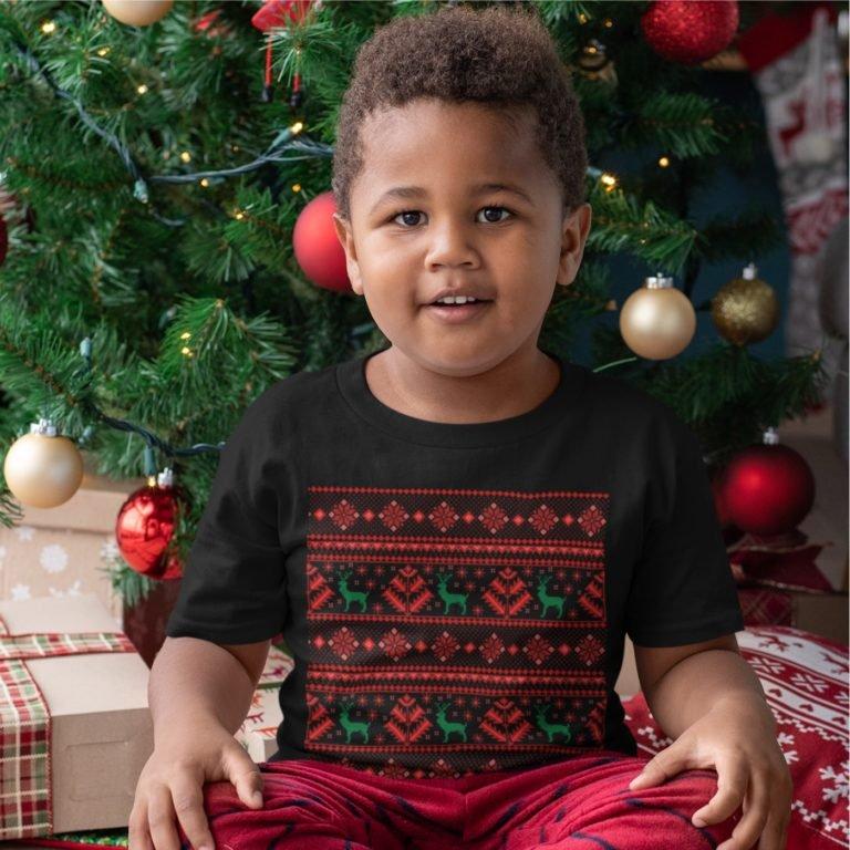 Short sleeve kids Christmas t shirts  Christmas ornaments
