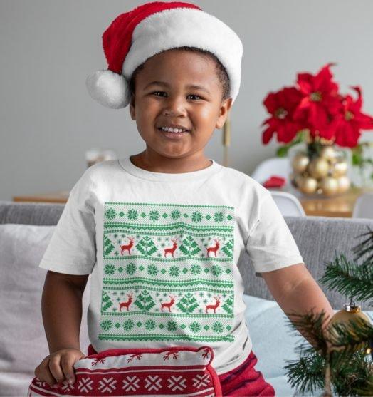 Short sleeve kids Christmas t shirts  Christmas style
