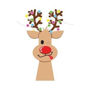 Short sleeve kids Christmas t shirts Funny deer