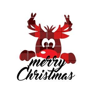 Deisgn for kids t shirts Deer Merry Xmas