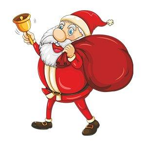 Santa with bag design for men t shirts