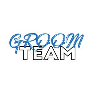 unisex jersey graphic cap Groom team