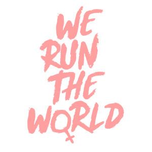 women graphic cap Run the world