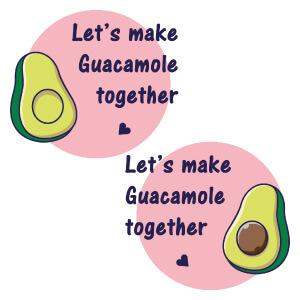 short sleeve couple graphic t shirts Guacamole